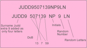 Driving Licence Number UK